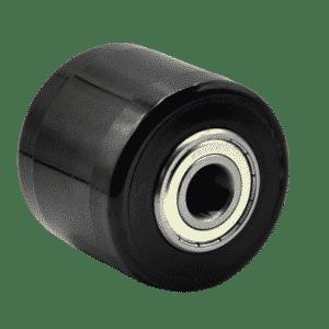 Gabelrolle PE, schwarz, 82 x 70 mm, Kugellagerbohrung 20 mm